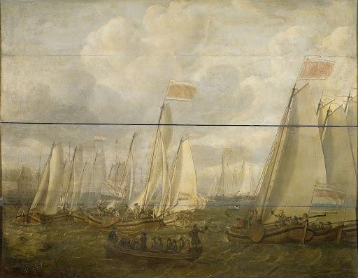 アムステルダム湾の海兵隊員