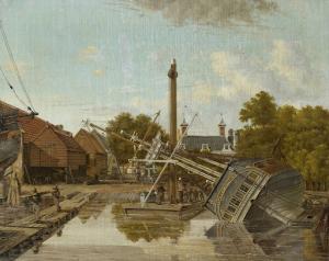 アムステルダム、ビッカース島のセント・ヤゴ造船所