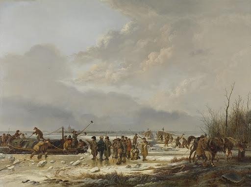 ナールデン、カルネメルクスロートの砕氷船(1874年1月)