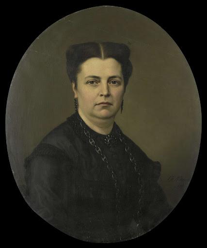 ピーテル・ミアーの妻、ジャネット・アントワネット・ピーテルマート(1818-70)