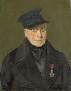 画家、エッチャー、胸あてをした騎兵長、ピーテル・ヤンソン(1765-1851)の肖像