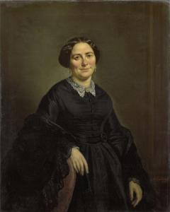 コルネリス・オウツォルンの妻、ヨハンナ・クリスティーナ・ベーレンカンプ(1820-90)