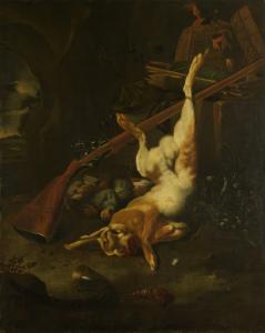 死んだ野ウサギと狩人のカバン