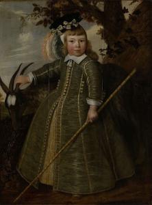 雄ヤギと少年の肖像