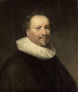 おそらくヤン・ドウブレット(1580-1650)であろう男の肖像
