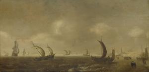 シェヴェニンゲンの浜辺の風景
