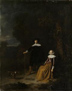 風景の中の夫婦の肖像