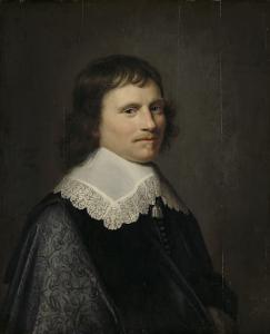 おそらくプッテン大尉、サロモン・ヴァン・ショーンホーヴェン(1617-1653)であろう、男の肖像