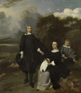 風景の中の家族