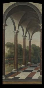 公園の柱廊