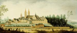 エグモンド・ビネン修道院の眺め