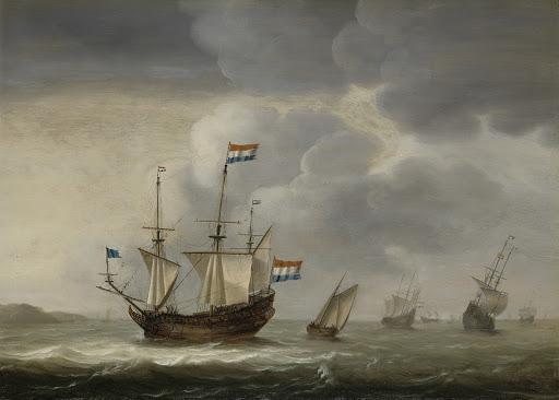海岸沖の船