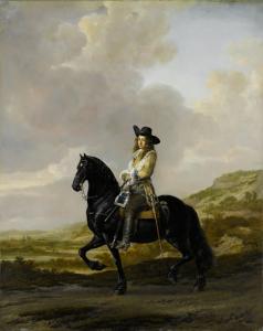 馬に乗っているピーター・シャウト