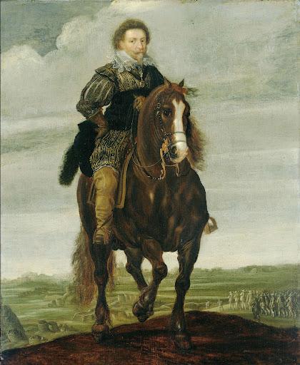 馬に乗っているフレデリック・ヘンドリック王子