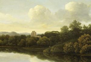 川がある、森の風景