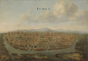 サイアムの首都、ユデアの眺め