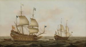 オランダ船に導かれてオランダ港に到着した、1626年にルイ8世の命でオランダの造船所で造られた戦艦