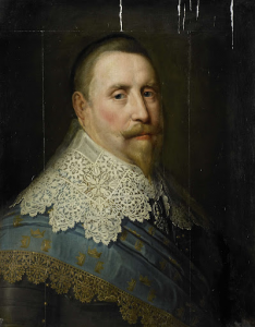 スウェーデンの王、グスタフ2世・アドルフの肖像