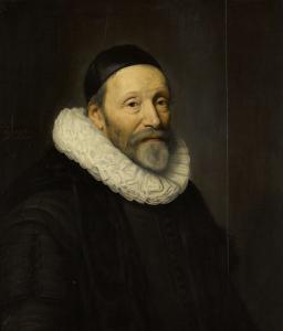 ハーグの再任牧師、ワロン教会の牧師、ヨハネス・ヴッテンボガート(ヤン・ヴッテンボガート)の肖像