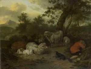 眠っている羊飼い