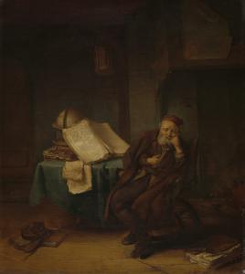書斎にいる哲学者