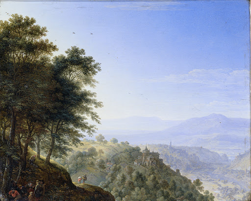 ラインのボッパール近くの山の風景
