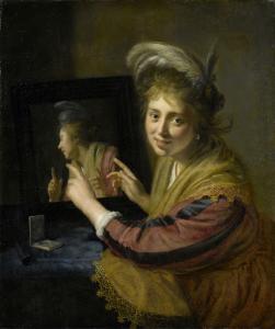 鏡に映る少女