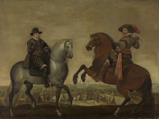馬に乗っているマウリッツ王子とフレデリック・ヘンドリック