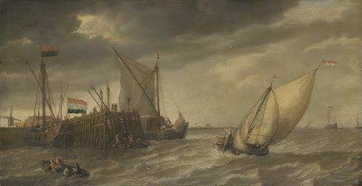 港の近くの船