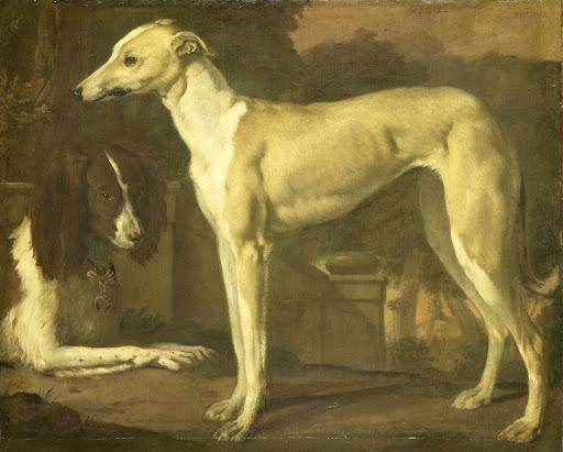 グレイハウンドとスパニエルの肖像