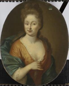 おそらくテオドルス・リースヴィックの妻、エリザベス・ホラーと思われる、女の肖像