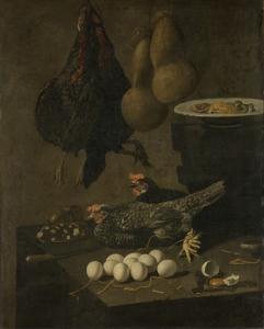 鶏と卵の静物