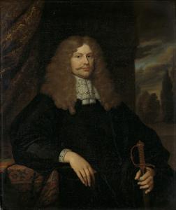 議会議員、皇族、アムステルダムの民兵の大佐、コーネリス・バッカー(1633-81)の肖像