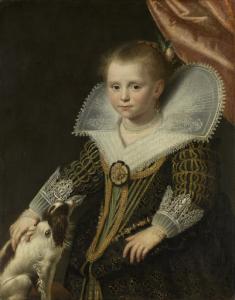 「小さな王女」として知られている、少女の肖像