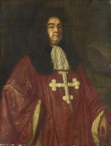 聖モーリスと聖ラザラスの位の騎士、ヨハネス・カンプリッヒ・ヴァン・クローネフェルトの肖像