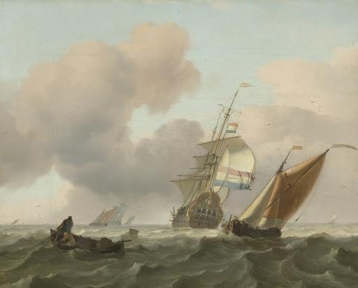 船と荒々しい海