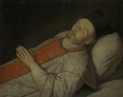 死に瀕した、ユトレヒト大学の進学の修士、ヨハネス・プットカマー(1600-1671)