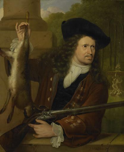 アンナ・デ・ホーヘのいとこ、狩りの衣装を着た、ヤン・デ・ホーヘ(1650-1731)