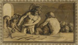 冥土からケルベロスを引き出したヘラクレス(スティクスの渡し守、シャロン)