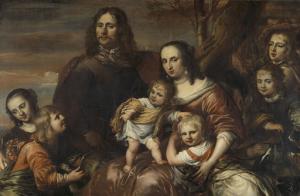 六人の子どもたちと夫婦