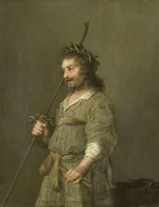 羊飼いの格好をしている男の肖像