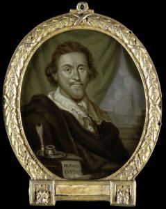 エイドリアン・ピーターズ・ファン・デ・ヴェンネの肖像、画家であり詩人