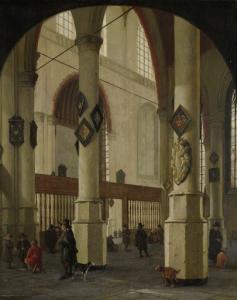 デルフトの旧教会の眺め