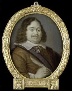 ホルンの裁判官、歴史家、ラテン語の詩人、ヨハネス・クールズ(1611生)の肖像