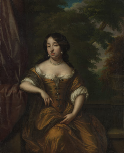 ヤン・ブーダーン・コーテンの妻、アンナ・マリア・ホーフト(1646-1715)の肖像