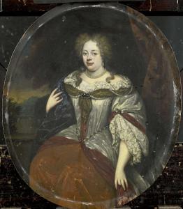 アイルヴァの男爵、ハンス・ウィレム・ヴァン・アイルヴァの妻、フロック(1658年後)の肖像