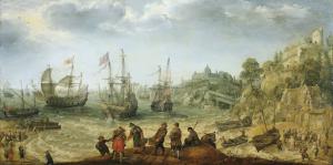 ロッキー海岸から出港する船