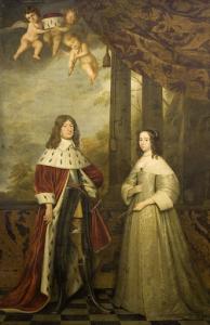 ブランデンブルク選帝侯、フリードリヒ・ヴィルヘルム1世とその妻、オラニエ=ナッサウ家伯爵夫人ルイーゼ・ヘンリエッテの肖像