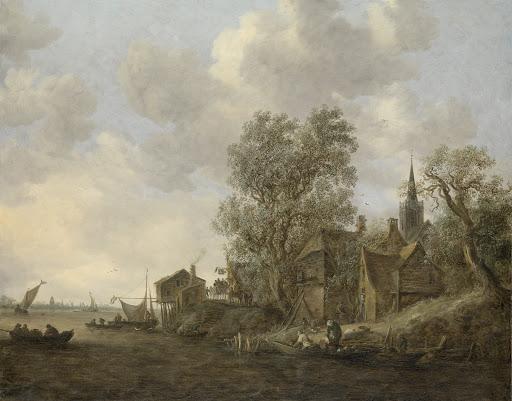 川沿いの町の景色