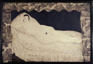 ジュイ布のある裸婦(寝室の裸婦キキ)